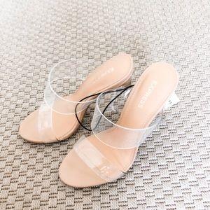 Clear Strap Heel